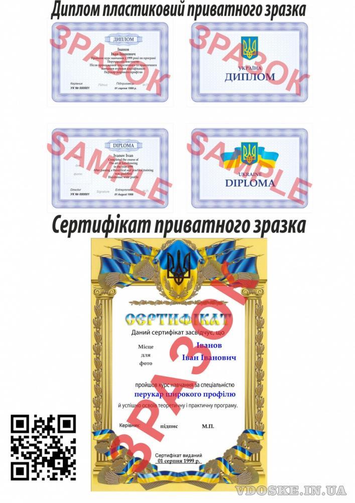 Диплом, сертифікат
