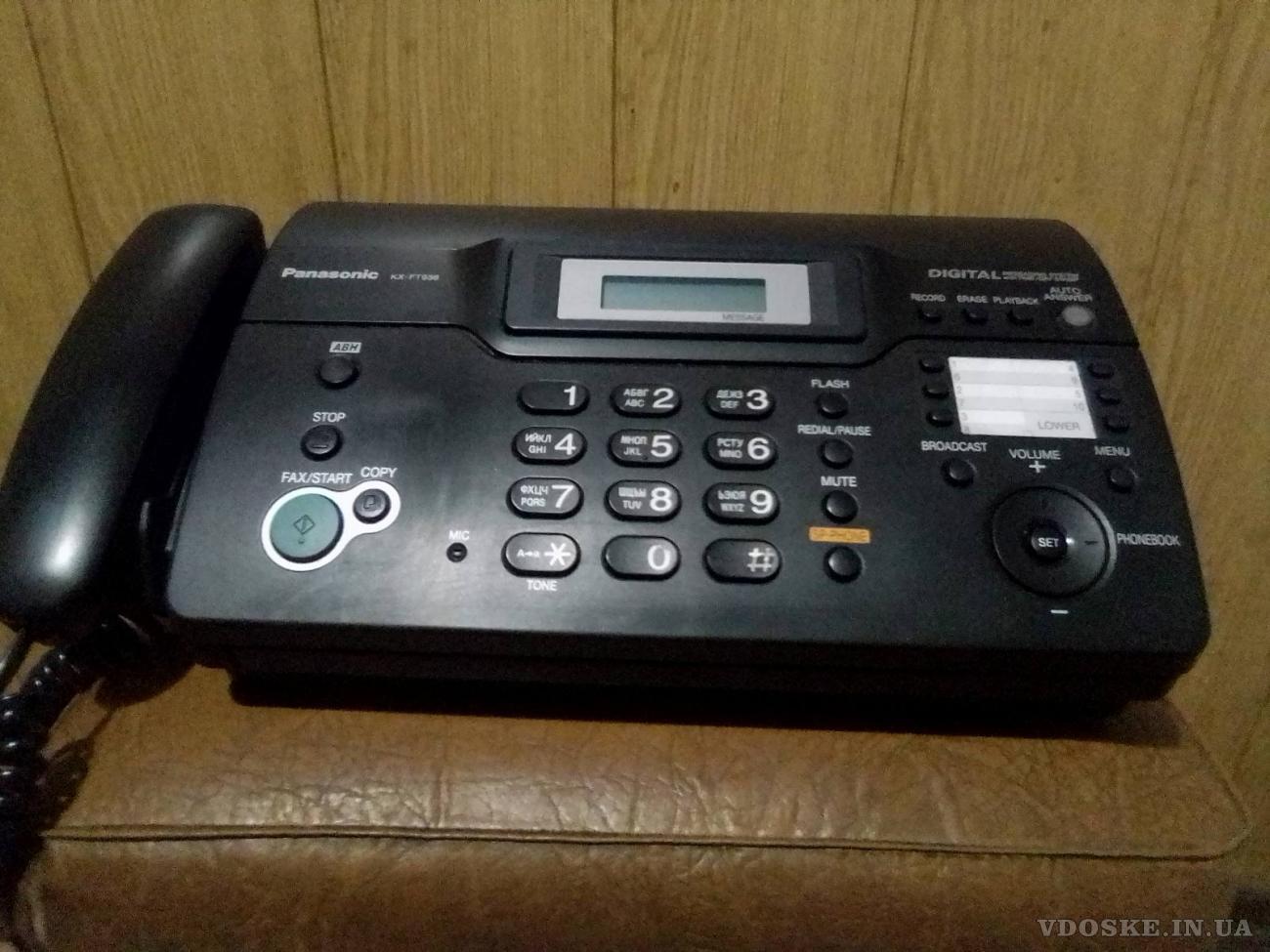 Телефон/факс Panasonic KX-FT938.