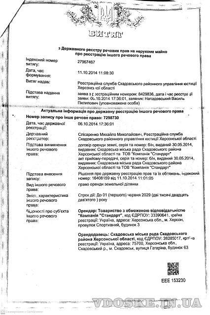 Территория 2,5 гектара, Скадовск, Херсонская обл. Продам