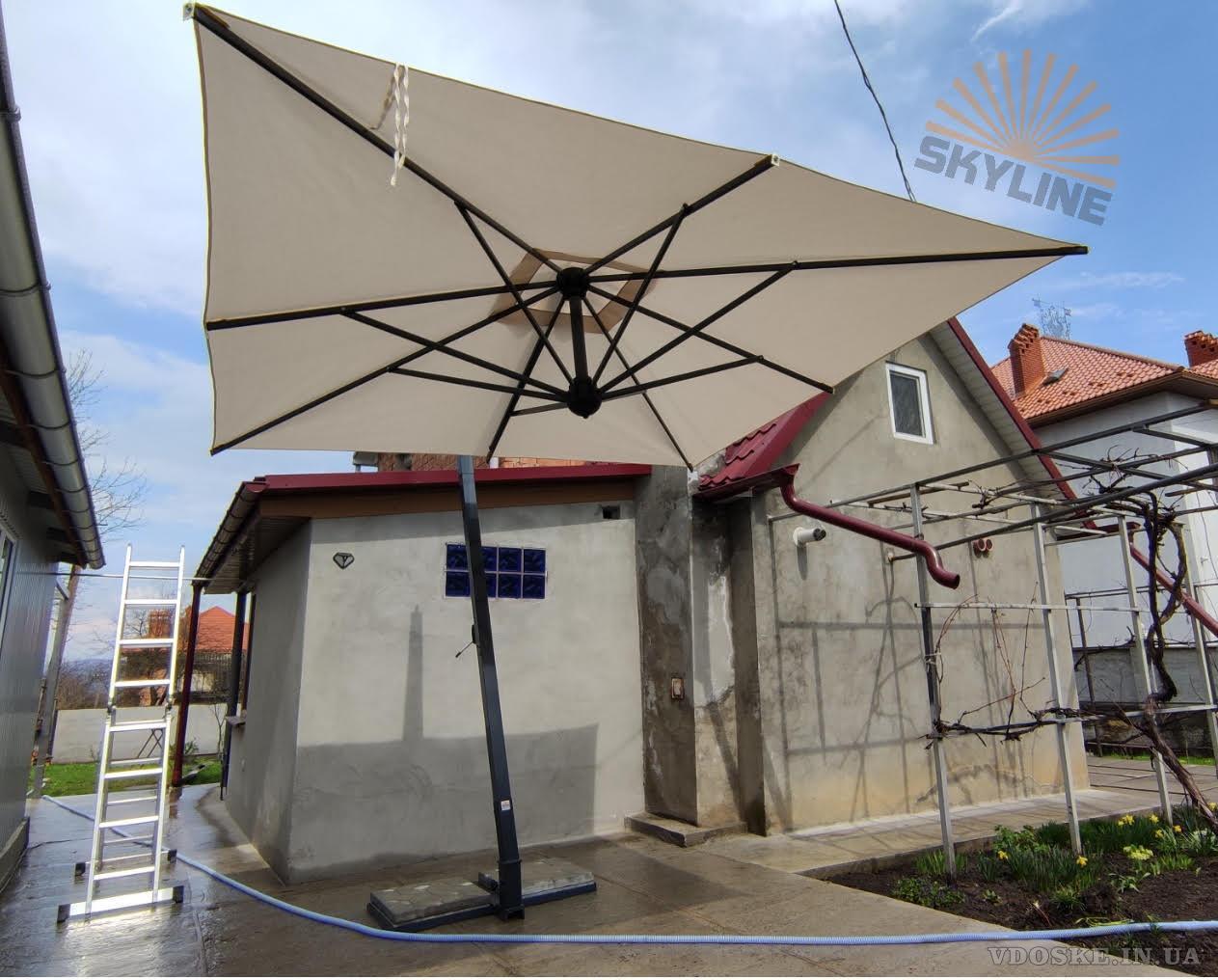 ☑☑ Купить садовый зонт Киев. Зонты консольные для кафе, ресторана, сада, Scolaro