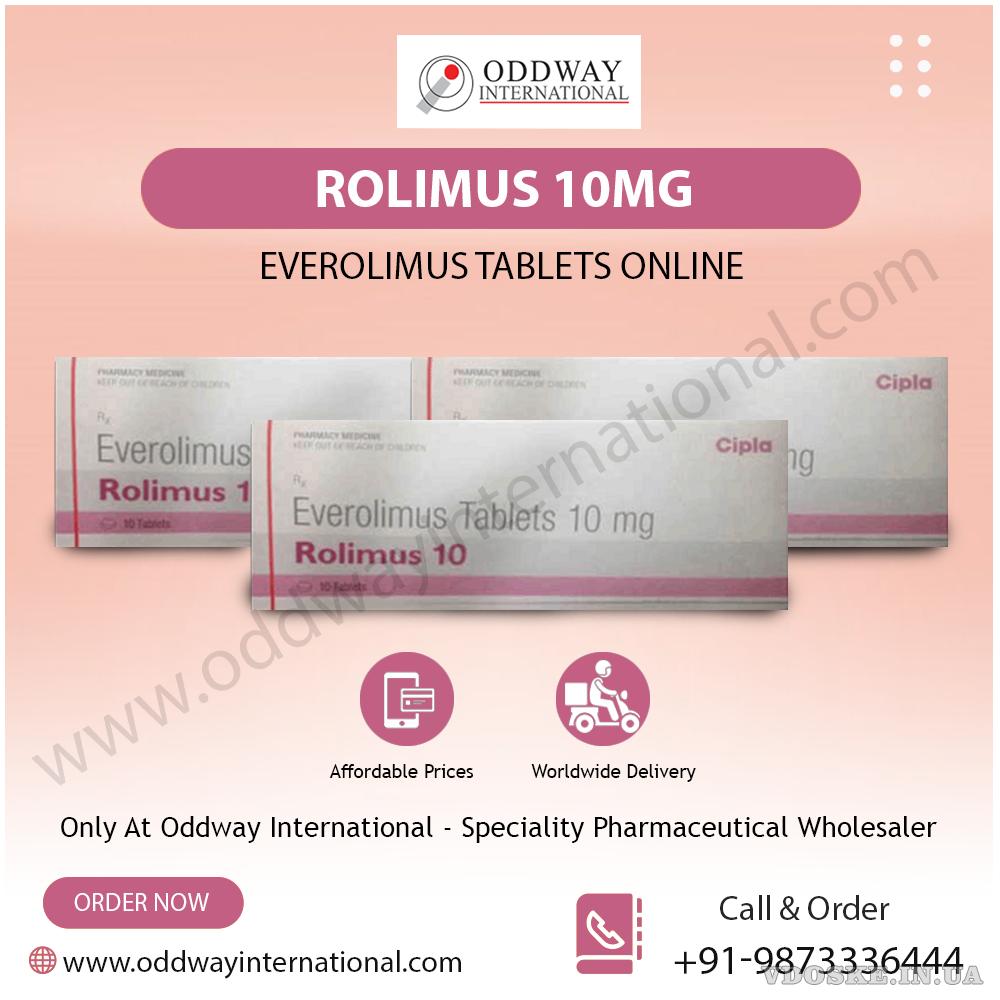 Ролимус 10 мг таблетки эверолимуса по самой низкой цене в Интернете от Oddway International