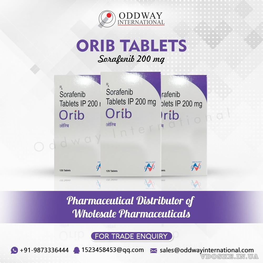 Таблетка Orib 200mg Sorafenib по самой низкой цене от Oddway International