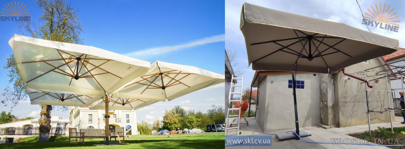 Итальянские террасные зонты Scolaro. Зонты для кафе, ресторанов