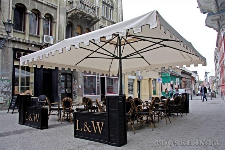 Уличные квадратные зонты Scolaro
