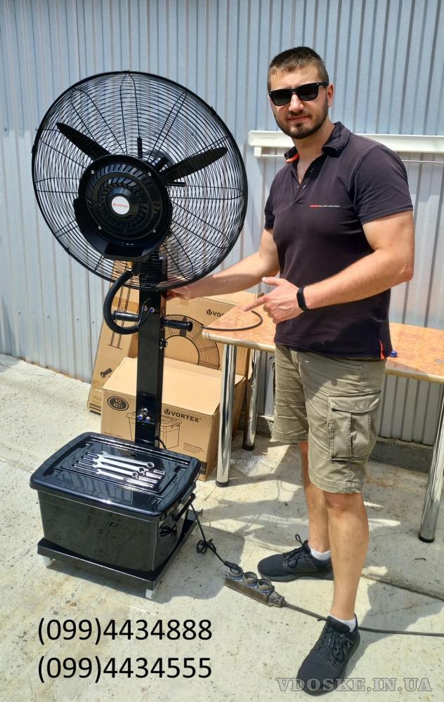 Качественные вентиляторы-увлажнители для уличных кафе