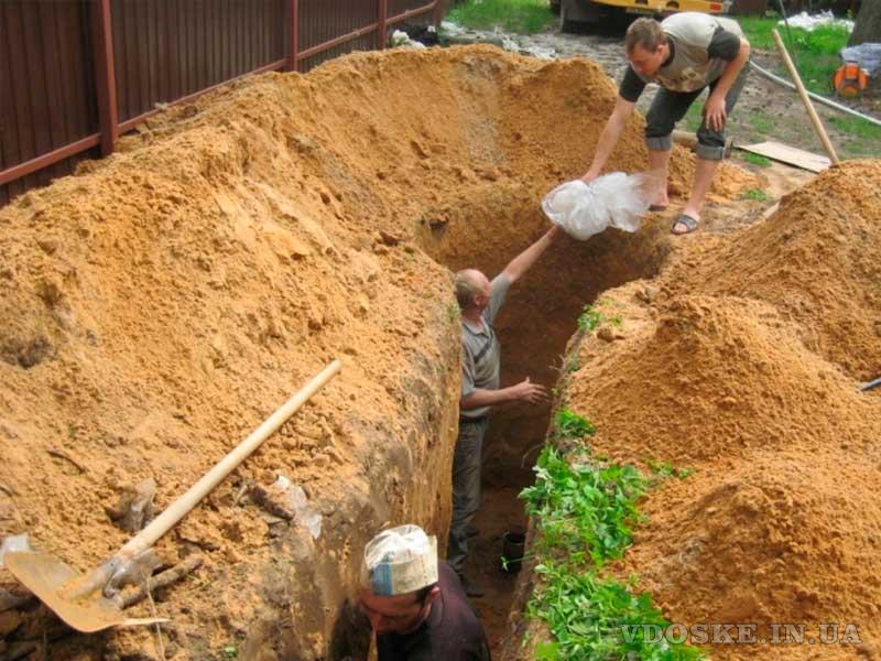 Землянные работы в ручную и спецтехникой Копка ям траншей котлованов Одесса