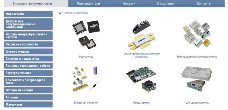 Электронные компоненты в Украине